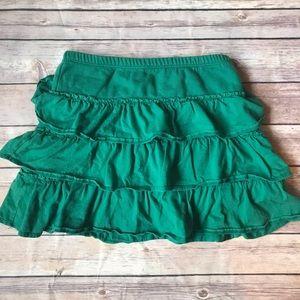 Mini Boden Tiered Sweatshirt Skirt